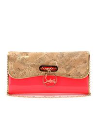 Christian Louboutin   Pink Riviera Patent Leather Clutch   Lyst