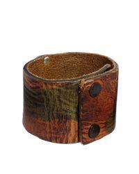 DIESEL | Brown Arfro Camo Bracelet for Men | Lyst