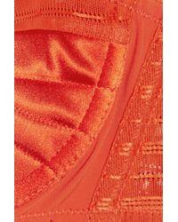 Jean Paul Gaultier Orange Iconic Surpiqué Satin Balconette Bra