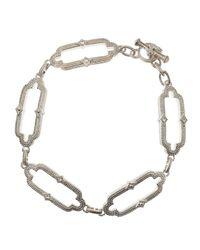 Judith Ripka | Chelsea White Sapphire Link Bracelet | Lyst