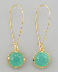 kate spade new york | Green Long Crystal Drop Earrings | Lyst
