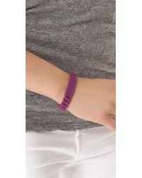 Marc By Marc Jacobs | Purple Rubber Standard Supply Bracelet | Lyst