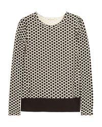 Marni White Polka Dot Print Cotton Jersey Top