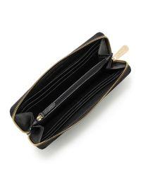 MICHAEL Michael Kors   Black Jet Set Saffiano Continental Saffiano Wallet   Lyst