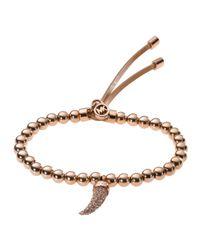 Michael Kors   Metallic Beaded Pavehorn Bracelet   Lyst