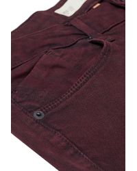 TOPSHOP Purple Moto Wine Baxter Skinny Jeans