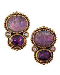 Stephen Dweck | Purple Rock Crystal Amethyst Clip Earrings | Lyst