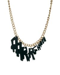 Tatty Devine | Black Aarrghhhh Necklace | Lyst