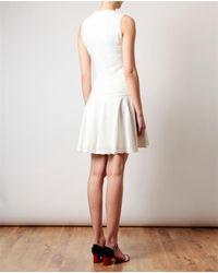 Alexander McQueen White Textured Stretchknit Dress