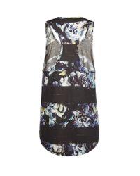AllSaints Black Stripe Mono Vest