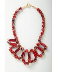 Anthropologie - Red Color Loop Bib - Lyst