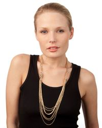 BaubleBar - Metallic Gold Ice Cluster Strands - Lyst