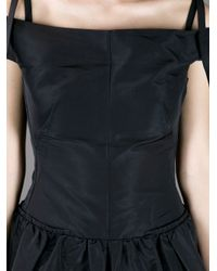 Carven Black Sleeveless Fitted Waist Dress