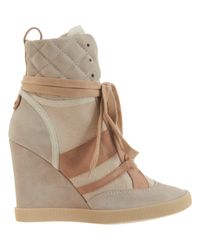 Chloé Natural High Top Wedge Sneaker