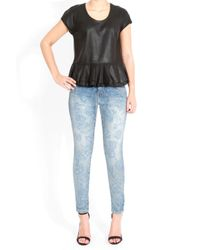 Current/Elliott The Stiletto Jeans in Denim Blue Rose