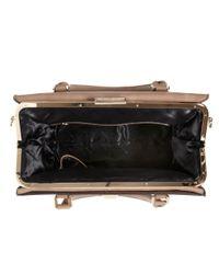 Dune Brown Dyramid Studded Inside Frame Bag