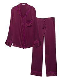Equipment - Purple Avery Pyjamas in Mulberry - Lyst