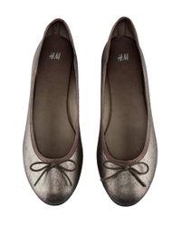 H&M Gray Ballet Pumps