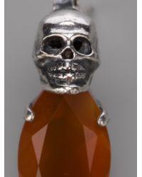 Iosselliani Metallic Skull Earrings