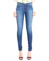 J Brand Blue Mid Rise 11 Inch Skinny Jean in Karma