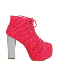 Jeffrey Campbell | Red Lita Foam Mesh Pink | Lyst