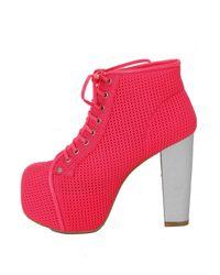 Jeffrey Campbell Red Lita Foam Mesh Pink
