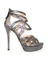 Jerome C. Rousseau Gray Strappy Sandals