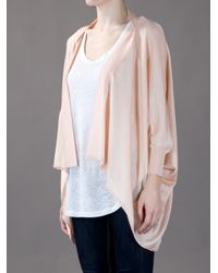 Love Moschino Pink Drape Front Cardigan