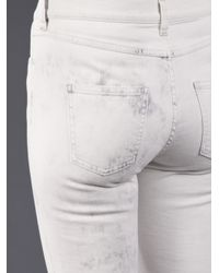 MM6 by Maison Martin Margiela White Tie Dye Jean