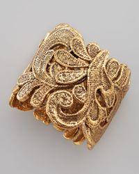 Oscar de la Renta | Metallic Cast Lace Bracelet | Lyst