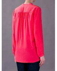 Rebecca Taylor Pink Silk Blouse
