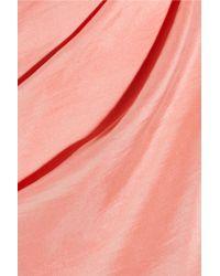 Roland Mouret Pink Bonnie Silkhabotai Asymmetric Dress