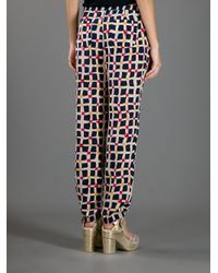 Sonia by Sonia Rykiel Red Checked Print Trouser
