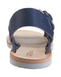 Alexander McQueen Blue Double Buckle Sandal for men
