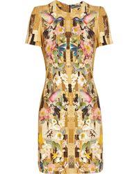 Alexander McQueen Multicolor Printed Cady Dress