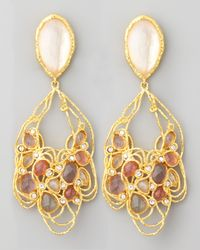 Alexis Bittar | Pink Floral Lace Clip Earrings | Lyst