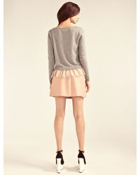 Alice By Temperley Gray Odille Frill Jumper
