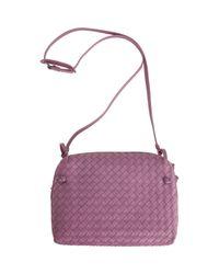 Bottega Veneta Purple Intrecciato Zip Around Crossbody Bag