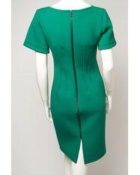Lanvin Green Short Sleeve Techno Dress