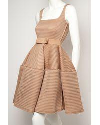 Lanvin Pink Sleeveless Techno Flare Dress