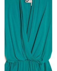 Lanvin Blue V-Neck Drape Dress