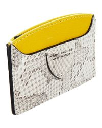 Marc Jacobs Yellow Diagonal Ayers Credit Card Case