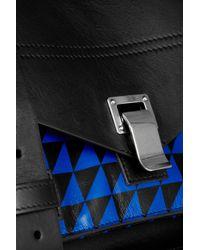 Proenza Schouler Black Medium Printed Leather Satchel
