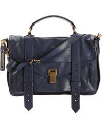 Proenza Schouler Blue Ps1 Medium Leather
