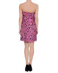 See By Chloé - Black Printed Silk-taffeta Dress - Lyst