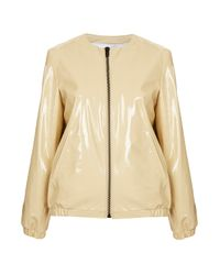 TOPSHOP Natural Patent Leather Jacket By Jw Anderson For Topshop