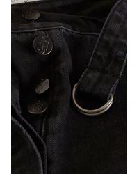 TOPSHOP Black Belted Denim Shorts