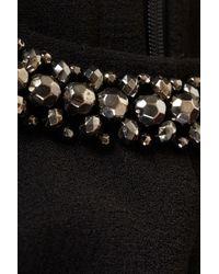 TOPSHOP Black Diamante Neck Playsuit
