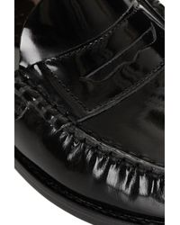 TOPSHOP Black Leather Loafers By Jw Anderson For Topshop