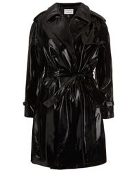 TOPSHOP Black Patent Leather Mac